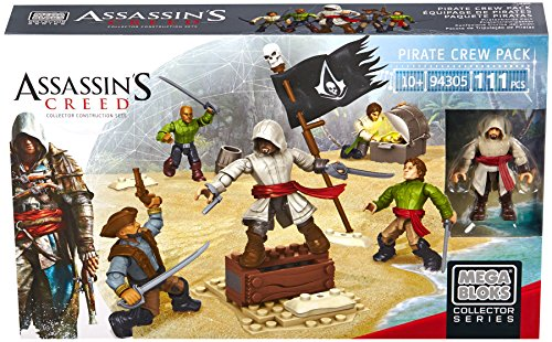 Ciurma dei pirati Include 5 personaggi articolati che includono un Assassino Con accessori ed armi Compatibile con tutti i set della linea Assassin's Creed di Mega Bloks per ricreare battaglie storiche