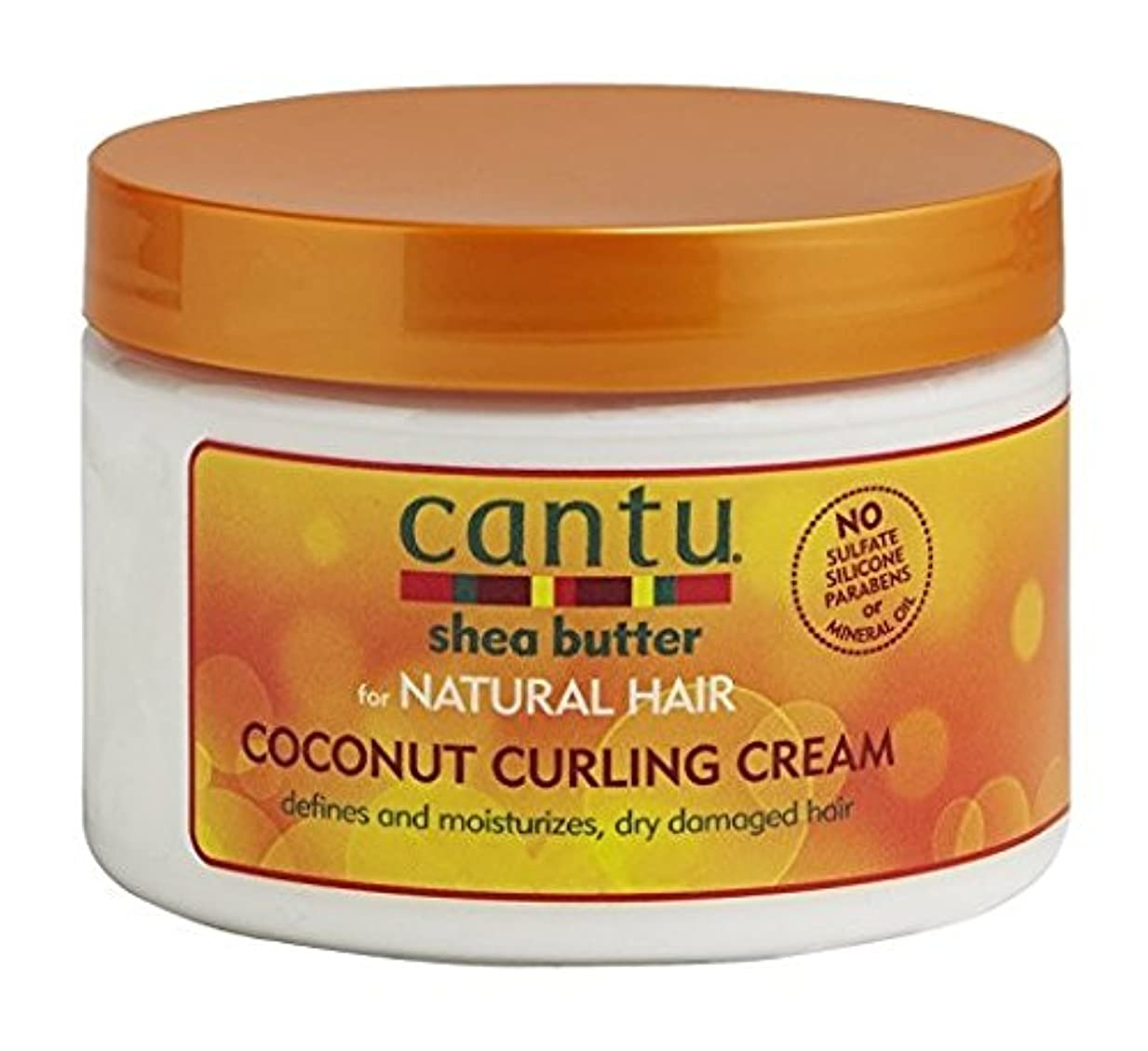流取り壊すどうやらCantu Shea Butter for Natural Hair Coconut Curling Cream 340g