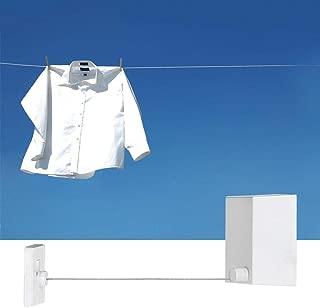 Salinr 室内物干しロープ 洗濯ロープ ワイヤー 物干しワイヤー 物干しロープ 巻き取り式 壁かけ式 伸縮自由 室内干し 洗濯物 由伸縮 室内外使用 自動 巻き取り 収納式 自由伸びる 室内 部屋 1.5mm 延長距離 約4.7m