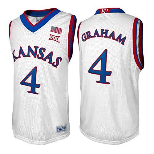 Kansas Jayhawks Devonte' Graham #4 Retro Brand Authentic Basketball Jersey (S)