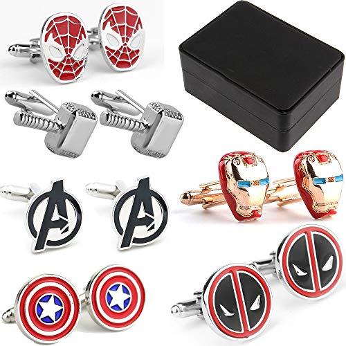Geek & Glitter Marvel & DC gemelli con confezione regalo | 30 stili tra cui scegliere – Commerce fumetti da collezione, gemelli da uomo e placcato_argento, cod. B07D19W4MZ_US