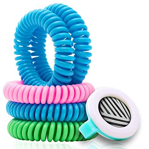 Mosquito Repellent Coil Bracelets for Kids/Adults, 13 Piece Economy Pack, Bonus Clip, Lasts 10 Days,...