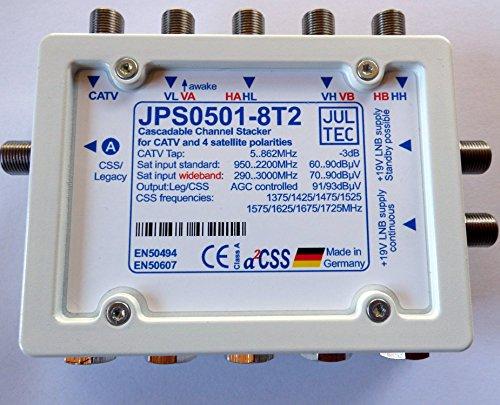 Jultec JPS 0501-8T2 Multischalter Einkabelmultischalter Unicable