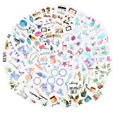 VINFUTUR 200 Pz Adesivi per Scrapbooking Stickers Journal Stickers Diario Collage Album Fai da Te Libri a...
