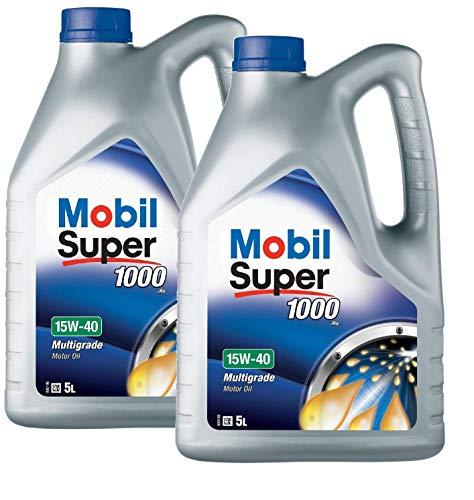 Mobil 151180 Super 1000 X1 - Aceite de Motor 15W-40, Pack 10...