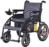 Syxfckc Todos mienten en silla de ruedas eléctrica personas mayores o discapacitadas inteligente scooter de plegado automático, ligero y fácil de almacenar, las llantas de aleación llantas neumáticas,