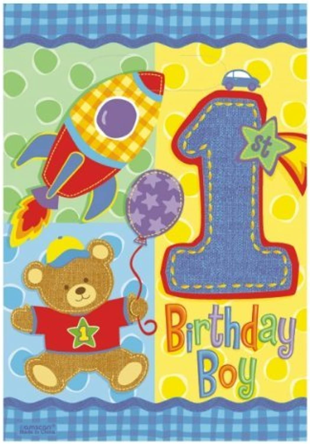 Hugs and Stitches 1st Birthday Loot Bags by notjustballoon