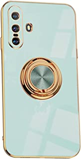 Hicaseer Case for Vivo X60 5G,Ultra-Thin Ring Shockproof Flexible TPU Phone Case with Magnetic Car Mount Resist Durable Ca...
