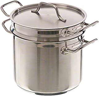 Pinch (DBC-8) 8 qt Induction Ready Stainless Steel Double Boiler w/Cover
