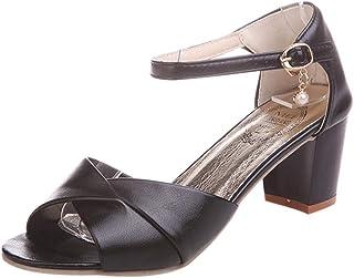 High-heeled sandals Ankle Strap Heels Women Sandals Summer Shoes Women Open Toe Chunky High Heels Party Dress Sandals