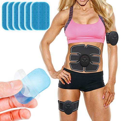 MENOLY 60 Pcs (30 Packs) Abs Trainer Replacement Gel, Muscle Toner Pads, Abdominal Muscle Toner Gel Pads for Abs Toner, ABS Stimulator, Abdominal Muscle Trainer