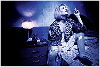 American Horror Story 8x10 Photo Sarah Paulson Leopard Jacket Smoking on Bed kn