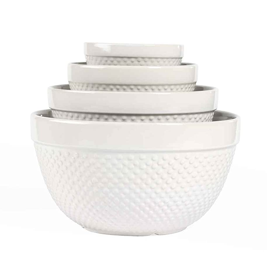 Hobnail 4 Piece, Mixing Bowl Set