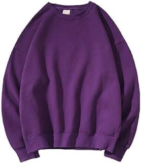 XINHEO Men Couples Oversize Plus Velvet Solid Tshirt Sweatshirt