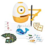 WEDRAW Learning Toy Robot , Toy for Kids 3-8, Educational Toys, (Spelling, Math, Counting, Draw &More) 56 Learning Games Cards, Interactive, Improve Creativity, Hand-on, Homeschool Robot Toys…