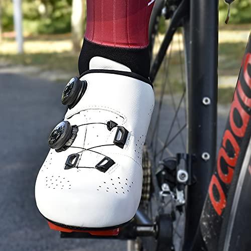 RTY Los últimos 12 Pares de Zapatillas de Ciclismo - Zapatos de Bicicleta para niños, Zapatillas de Ciclismo Antideslizantes Entrenamiento con Almohadilla Suave para Ciclismo,Blanco,39