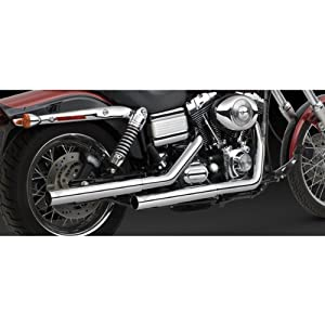 Vance & Hines Straight Shots HS Slip Ons for Harley 1991-2017 Dyna Models (16823)
