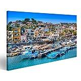 bilderfelix® Bild auf Leinwand Sommeransicht des Hafens