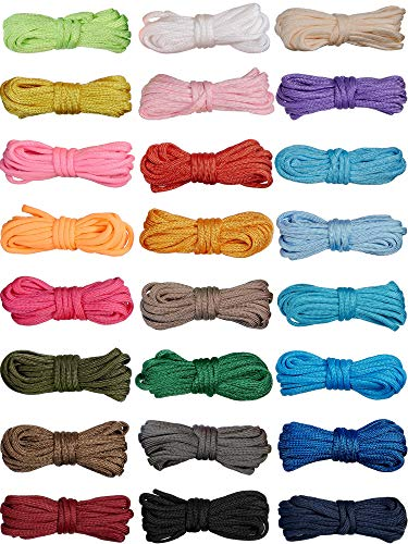 24 Pieces 10 FT Paracord Cord 550 Multifunction Paracord Rope Paracord Bracelet Rope Crafting Making Rope Kit for Lanyards Keychain Dog Collar Woven DIY Manual Braiding Supplies 24 Solid Color