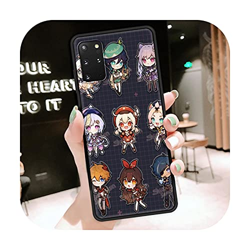 Funda del teléfono móvil para Samsung Galaxy S20 FE S21 Ultra S10 Lite S9 S8 Plus S10e S7 cubierta suave funda lindo Genshin Impact-B10-para Samsung S10