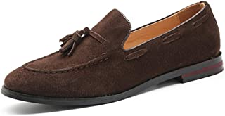 [OceanMap] 靴 ローファー メンズ 大きいサイズ タッセル付きローファー ローファー メンズ ヒール シューズ 黒 ドライビングシューズ 靴 コインローファー デッキシューズ メンズシューズ 黒 ブラウン ダークブラウン 29 28