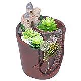Yosoo Maceta de Plantas suculentas, Maceta de Plantas suculentas de Resina, Mini Maceta de Resina para casa, Maceta de Flores, Maceta, decoración del hogar