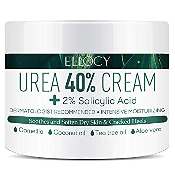 Ellocy Urea 40% Foot Cream Plus Salicylic Acid 4.2 Oz Best Callus Remover - Moisturizes and Rehydrates Feet Knees & Elbows - For Thick Cracked Rough Dead & Dry Skin