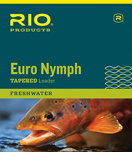 RIO Products Leaders Euro Nymph Leader with Tippet Ring, Clear