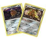 Alolan Dugtrio Pokemon Evolution Card Set - Alolan Diglett - Sun Moon 87/149 Tangling Hair - Rare Card LOT