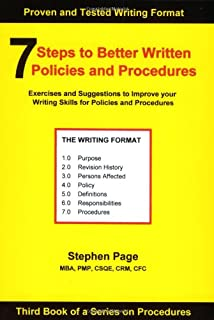 7 Steps to Better Written Policies and Procedures