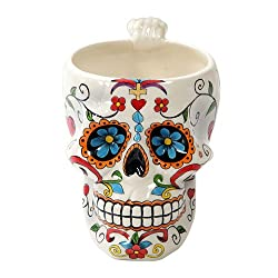 Pacific Giftware Colorful Day Of The Dead Skull Head Ceramic Drinking Mug