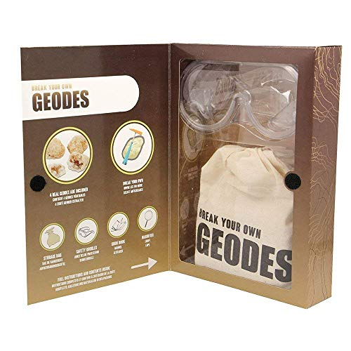 MAGNOIDZ- Giocattoli di Scienza Geology Break Your Own Geodes Kit, Colore Various, SC252