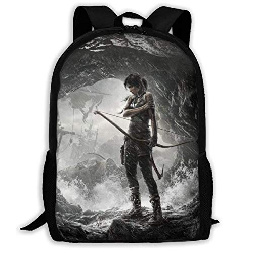 shenguang Tomb Raider Game Adult Travel Backpack Fits 15.6 Inch Laptop Backpacks School College Bag Casual Rucksack for Men & Women
