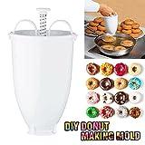 Singade Máquina para hacer donuts molde de cocina pastelería hacer utensilios para hornear hogar mujeres ama de casa simple extraíble conveniente donut herramientas ajustable panqueques Gadget