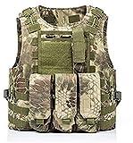 HLMJ Airsoft táctico Militar del Chaleco Combate Asalto Portador de la Placa Chaleco táctico 7 Colores Exteriores CS Ropa de Caza Chaleco (Color : G Snake)