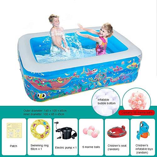 Guoc Aufblasbarer Pool,Baby-Planschbecken,separater Schichtairbag,höhenverstellbar,schnelles Aufpumpen,einfache Aufbewahrung,tragbarer Sommerpool,Ballpool,Spielzeugpool