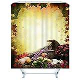 FILWHT Duschvorhang Gemüse 165x180CM 3D Digitaldruck Anti-schimmel Badezimmer Deko wasserdichte Waschbar Blickdicht mit Duschvorhangringen