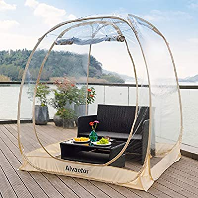 Alvantor Bubble Tent Screen House Room Camping Tent Canopy Gazebos for Patios, Large Oversize Weather Pod, Premium Greenhouse Instant Pop Up Tent, Cold Protection