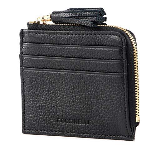 Coccinelle Soporte para tarjetas de crédito, color negro