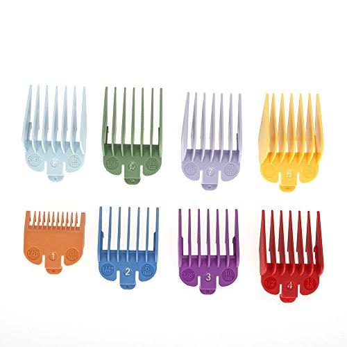 Juego de peines guía, 8 tamaños accesorios profesionales para cortapelos piezas de...