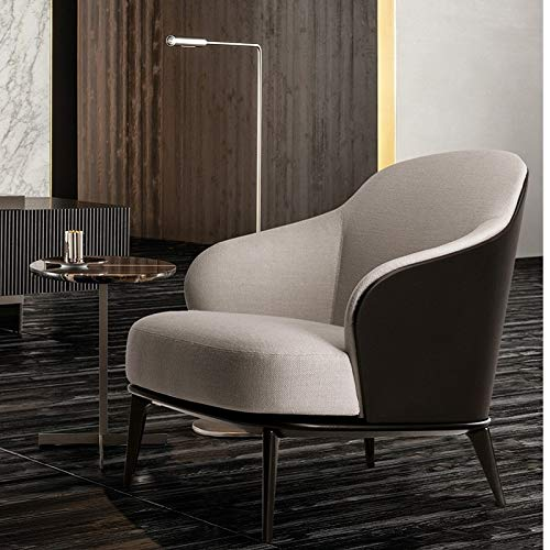 DWWSP Haus Dekoration U-Best Luxus Stoff und Samtabdeckung Wohnzimmer Lounge Freizeitstuhl Leder Restaurantstuhl