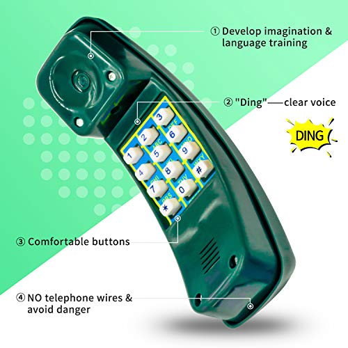 HAPPYPIE Toy Phone for Kids Swing Set Phone Pretend Phones and Learning Education Phone Plastic Telephone Creative Children Play Phone for Toddlers Baby Cell Phone Playhouse Phone (Green)