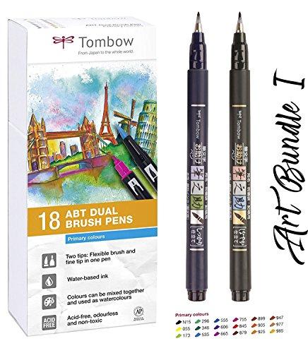 Tombow 18 rotuladores (colores secundarios) Dual Brush Pen c