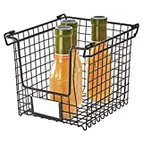 iDesign Caja, pequeña Cesta de Metal apilable y con Asas para Guardar cosméticos o artí...