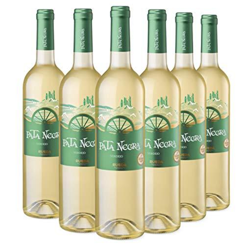Pata Negra Verdejo - Vino Blanco D.O Rueda, Pack de 6 Botellas x 750 ml