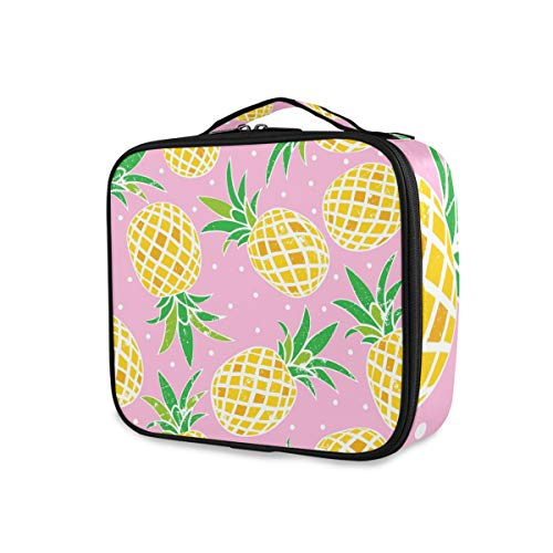 Gereedschappen cosmetica trekkoffer draagbare toilettas reisopslag portemonnee punten lief ananaspatroon make-up tas