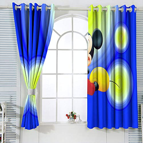 Mic-key Min-nie Mouse - Cortinas opacas para dormitorio infantil (52 x 84 pulgadas)