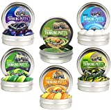 Crazy Aaron's Thinking Putty Mini Tin Gift Set Bundle (Sample Set 1) with Lizard Lips Hypercolor,...