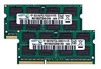 サムスン純正 PC3L-12800S(DDR3-1600) SO-DIMM 8GB×2枚組 メモリンゴブランドノートPC用メモリ DDR3L対応モデル (電圧1.35V & 1.5V 両対応)
