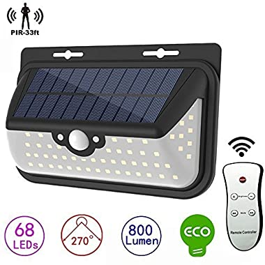 Cool-Shop Solar Lights Outdoor 68 LEDs, Super Bright Wireless Waterproof Security Flood ​Lights Motion Sensor Wall Lights For Outdoor Garden Patio Yard Garage